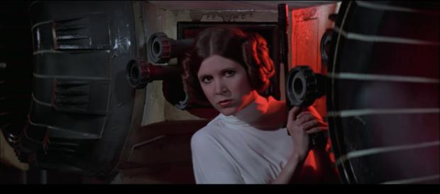 Princess Leia in 'Star Wars' 1977. - [Star Wars / YouTube Screenshot]