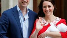 Casal real deixa maternidade com filho no colo e o mostra ao mundo