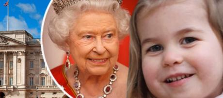 Queen Elizabeth II shares naughty moment with Prince George and Princess Charlotte. - [DailyNews / YouTube screencap]
