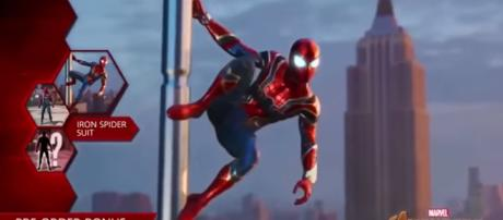 Spider-Man PS4   Avengers Infinity War Iron Spider Suit [Image Credit: Ultimate Wall-Crawler/YouTube screencap]