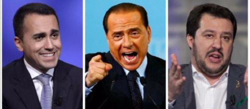 Luigi Di Maio, Silvio Berlusconi, Matteo Salvini