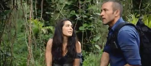 "Michelle Borth is back to ""Hawaii Five-O"" on a case and Catherine and Steve come to peace on the past. [Image credit: tvpromosdb/YouTube]"