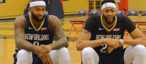 New Orleans Pelicans' star big men DeMarcus Cousins and Anthony Davis: (Image Credit: SLAM via YouTube screencap)