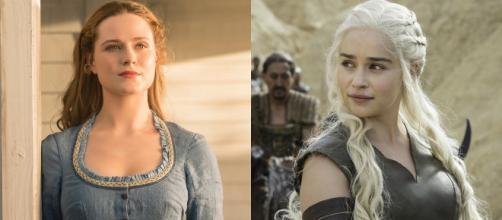 Personagens Dolores, de ''Westworld'', e Daenerys, de ''Game of Thrones''