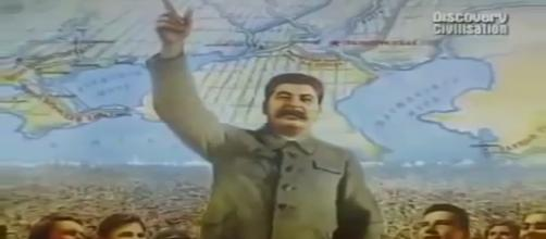 Propaganda poster of Josef Stalin- Photo- (image credit-Discovery/youtube.com)