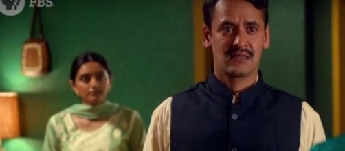 Simon Rivers as Saddiq and Aasiya Shah as Parveen -- PBS/YouTube screencap
