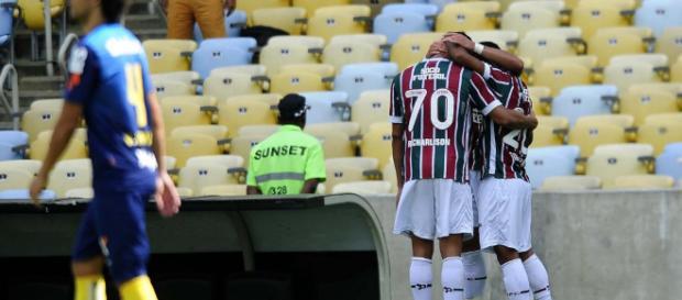 Fluminense bateu o Santos no ano passado