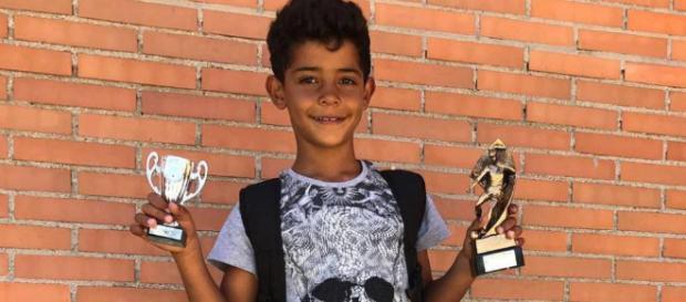 El hijo de Ronaldo tras los pasos paternos con sólo 7 años