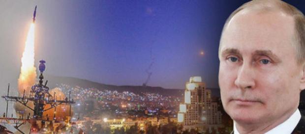 SUA, Franța și Marea Britanie au efectuat un atac cu rachete asupra Siriei - Foto-colaj: Daily Express (© REUTERS-GETTY-TASS)