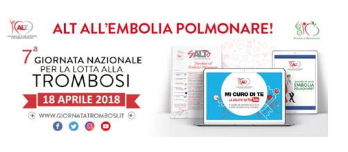 18 aprile 2018: 7ª giornata nazionale per la lotta alla trombosi