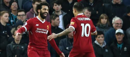 Salah e Coutinho dividiram vestiário no Liverpool