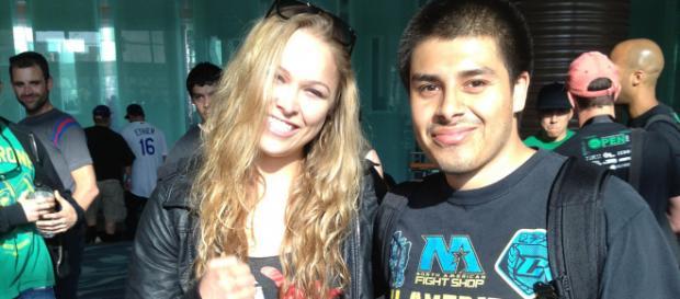 "PedroGaytan via Flickr ""Saying hi to Ronda Rousey"""