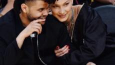 Bella Hadid and The Weeknd kissing at Coachella