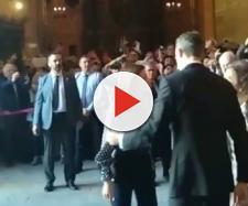 La reina Letizia durante la grave bronca