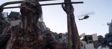 El misteriosos helicóptero que apareció en The Walking Dead.