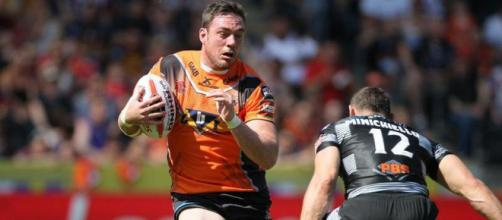 Grant Millington was yet again a standout for the Tigers as they put Catalans to the sword. Image Source - shropshirestar.com