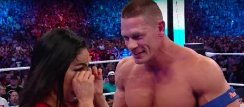 John Cena and Nikki Bella have called it quits after six years together. [Image via WWE/YouTube]