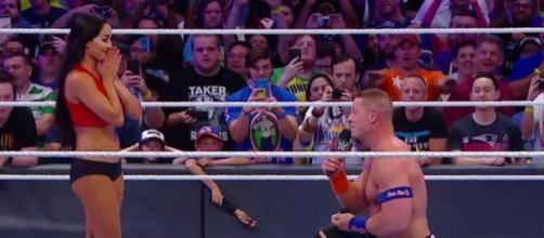 John Cena PROPOSES to Nikki Bella - screenshot