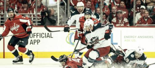 Los Blue Jackets quieren dar la campanada al eliminar a los Capitals. NHL.com.