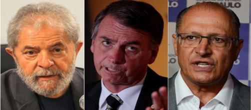 Lula e Bolsonaro continuam emparedados e Alckmin sobrou para o escanteio.
