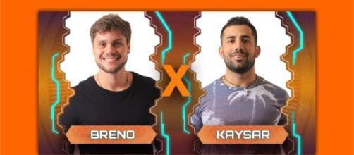 Paredão entre Breno e Kaysar agita as redes sociais