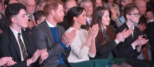 Prince Harry and Ms Markel at an event in Belfast (Image credit – North Ireland Office, Wikimedia Commons)