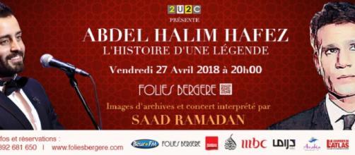 Saad Ramadan rend hommage à la légende égyptienne Abdel Halim Hafez pour un concert unique à Paris le 27 avril prochain.