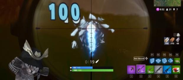 A screenshot from 'Fortnite' - YouTube/Hedrymas