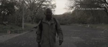 Morgan's journey leads him to Texas, where he meets up with new characters. - [Image via AMC/AresPromo / YouTube screenshot]
