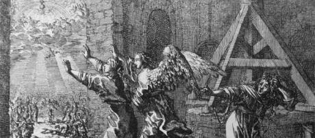 """Un grabado representando una de las fases de """"El Rapto""""; la nueva llegada de Jesucristo y el comienzo del fin del mundo (Wikimedia Commons)"""