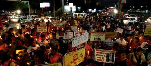 Proteste după ce o fetiță de șapte ani a fost violată și ucisă în timpul unei nunți în India - Foto: EPA