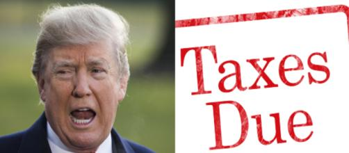 Donald Trump and taxes, via Twitter