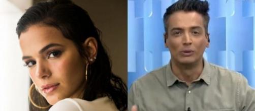 Léo Dias não está muito contente com a atriz