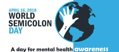 Project Semicolon promotes their event for those who battle with suicide (Image Credit: @projsemicolon/Twitter)