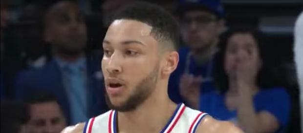 Ben Simmons and the 76ers host the Miami Heat in Game 2 of their playoff series on Monday night (April 16). - [Image via NBA / YouTube screencap]