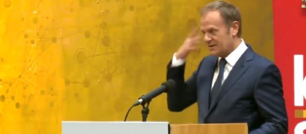 Donald Tusk, przewodniczący Rady Europejskiej (youtube.com).