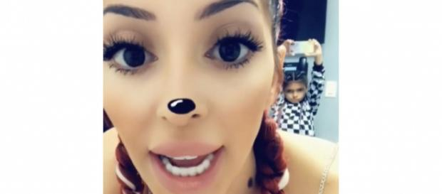 Farrah Abraham and Sophia pose on Instagram during her butt injections. [Photo via Instagram]