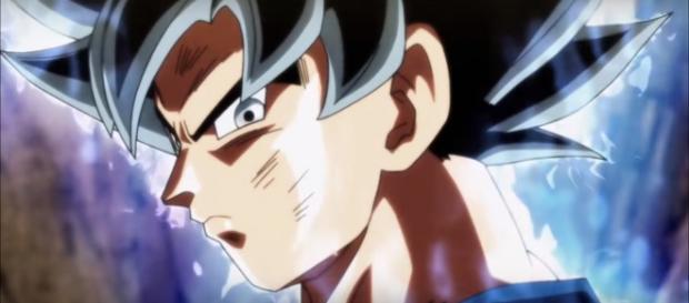Son Goku activating Ultra Instinct for the first time. [Image via Rawaz/YouTube screencap]