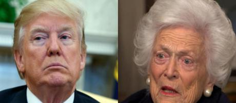 Donald Trump, Barbara Bush, via Twitter