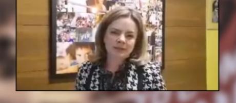 Senadora Gleisi Hoffmann ataca juiz Sérgio Moro, durante gravação de vídeo
