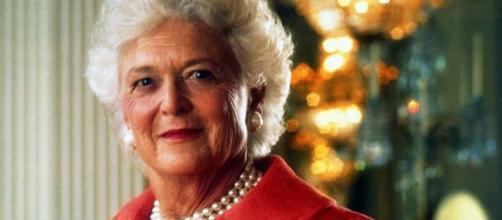 Barbara Bush circa 1992 [image courtesy Office of the President wikimedia commons]