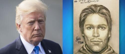 Donald Trump, Stormy Daniels sketch, via Twitter