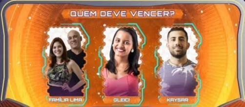 Família Lima, Gleici e Kaysar estão na final do ''BBB18''
