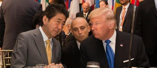 President Donald J. Trump and Prime Minister Shinzō Abe at the U.N. General Assembly 2017. - [Image credit - Shealah Craighead Wikimedia Commons]