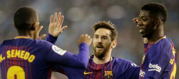 Leo Messi não gostou do que viu contra o Celta