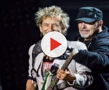Vasco Rossi con Claudio Golinelli sul palco di Modena Park