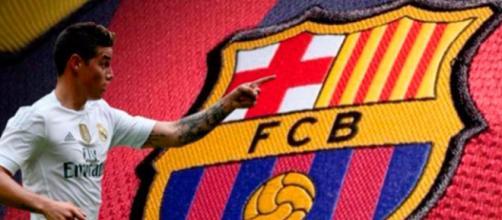 James Rodríguez podría jugar en el Fc Barcelona