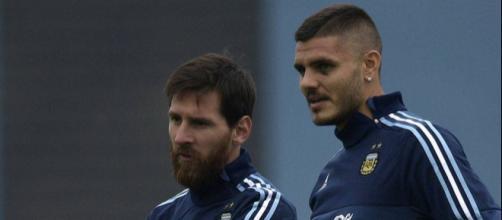 Lionel Messi e Mauro Icardi (Argentina)