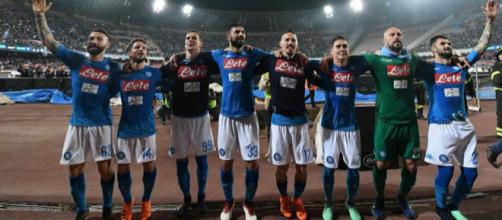 Napoli in festa dopo il successo con l'Udinese (fonte foto: SSC Napoli Official Facebook Account)