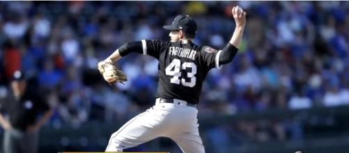 Pitcher Danny Farquhar is recovering at Rush Medical Center - image - ABC 10 News / YouTube